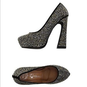 NEW • Jeffrey Campbell • Eva Studded Heels Black 9